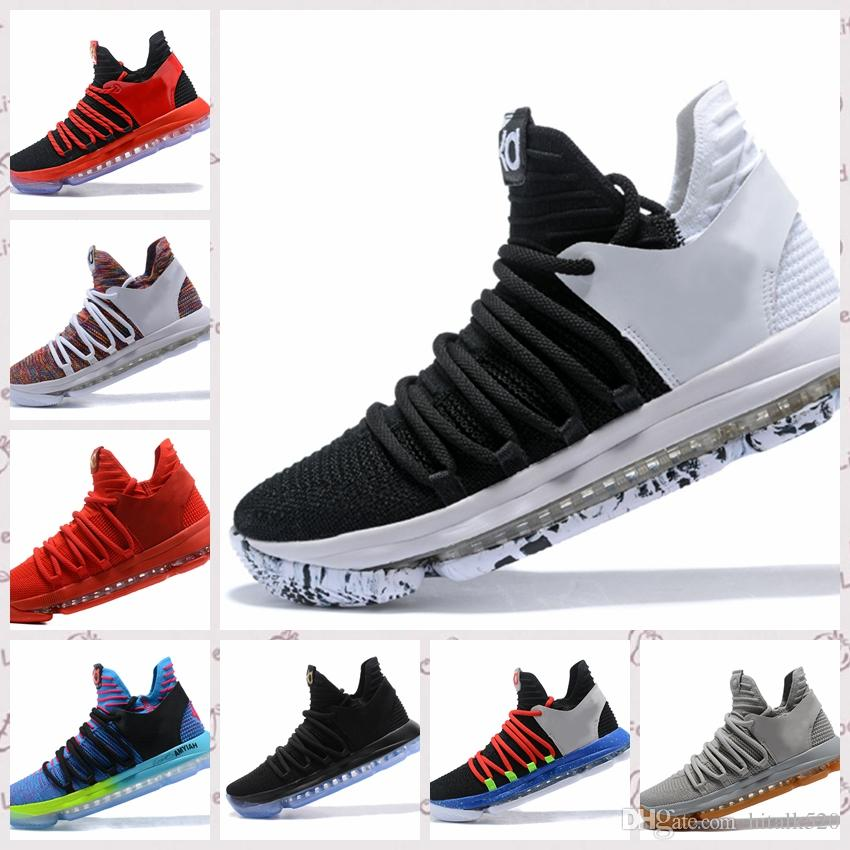 check out baa84 9ead9 ... inexpensive 2018 new zoom kd 10 anniversary pe bhm oreo triple black  men basketball shoes kd