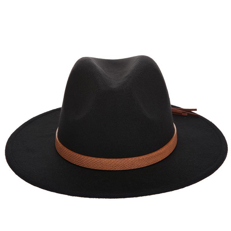 2c77271cc7639 New Vintage Unisex Wool Blend Panama Cap Jazz Hat Wide Brim Sombrero ...