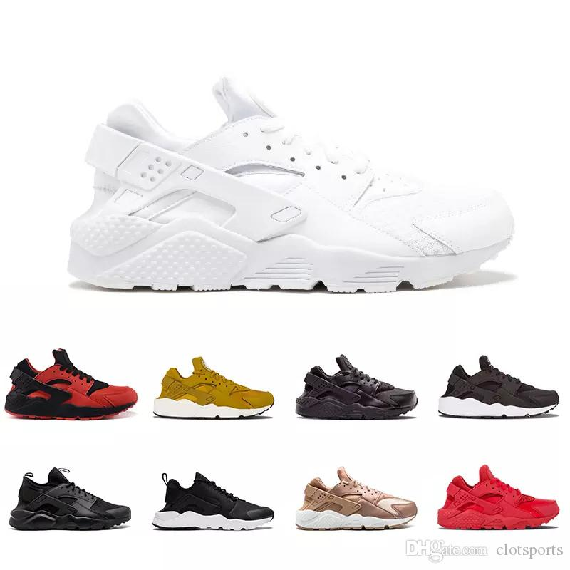 e8f29212fe10 2018 Huarache 4.0 IV 1.0 I Rose Gold Running Shoes Triple White ...