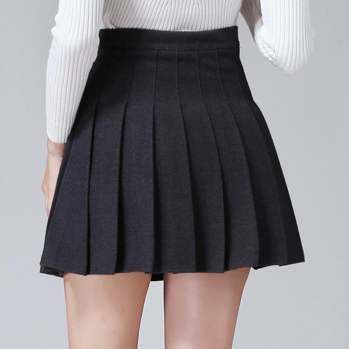 b9451967a53592 2019 2016 New Winter Wind All Match Wool Pleated Skirt Party Favor Fashion  Skirt Beautiful Soft School Style Skirt For Girls From Dr01, $11.06 |  DHgate.Com