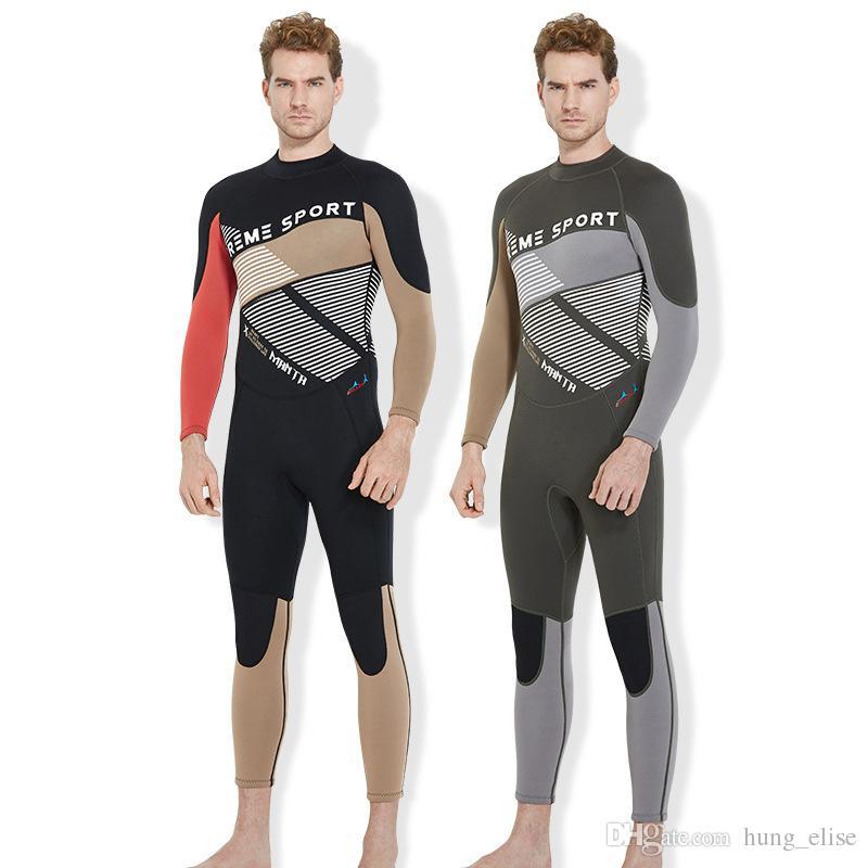0473e55375 3mm Super Elastic Neoprene Wetsuit Scuba Neoprene Diving Suit Wetsuit Surf  Scuba Dive Suits for Men Wetsuit Online with  74.32 Set on Hung elise s  Store ...