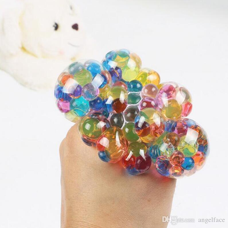 Novo Anti Stress LED Brilhante Bola Novidade Divertido Splat Uva Ventilação Bolas Squeeze Stress Reliever Toy Engraçado Gadgets Presente Frete Grátis