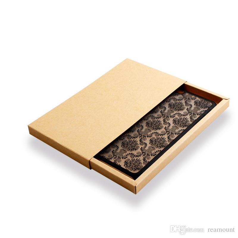 500 pz Personalizzato LOGO FAI DA TE Nome della società Logo Design Paper Box Samsung s7 s8 s9 Custodia regalo iPhone X 8 8 Plus Custodia