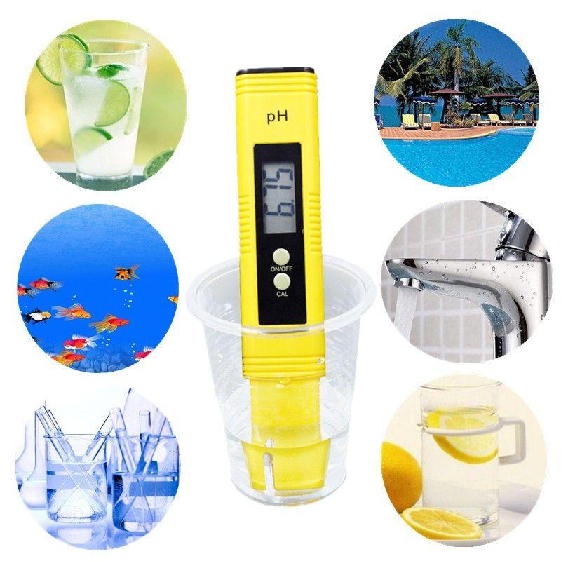 PH Meter Test Precision 0.01 Aquarium Pool Water Urine Calibrazione automatica Digital Screen Screen Filter Temp Purity Pen