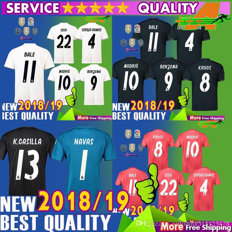 18 19 Real Madrid Soccer Jersey Home Third Away ASENSIO MODRIC VINICIUS JR  BALE 2018 2019 Soccer Jerseys RAMOS BENZEMA ISCO Football Shirt UK 2019 From  ... de0570d90