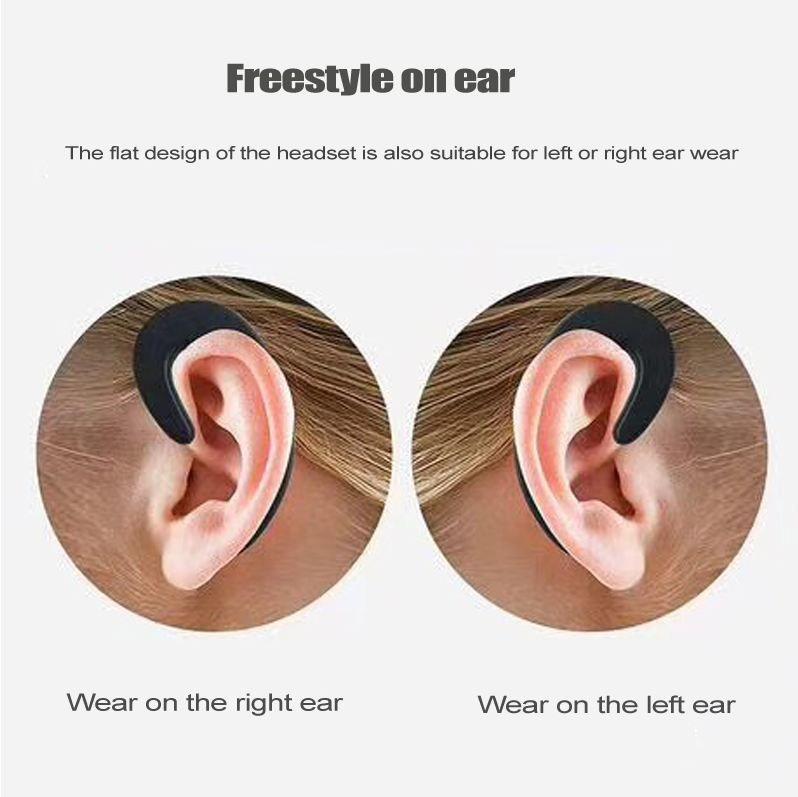 Hot Ear-hook Headset Wireless Bluetooth Earphone unilateral Wireless Headphones HD call No earplugs Bluetooth Phone Headset with Mic