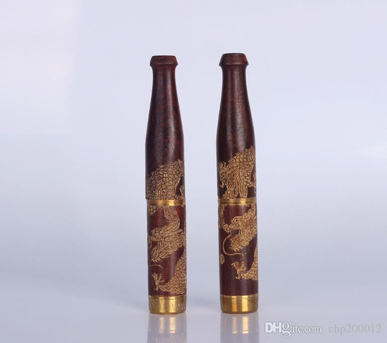 Sigillante intagliato intaglio del filtro rimovibile in legno massello di drago rosso