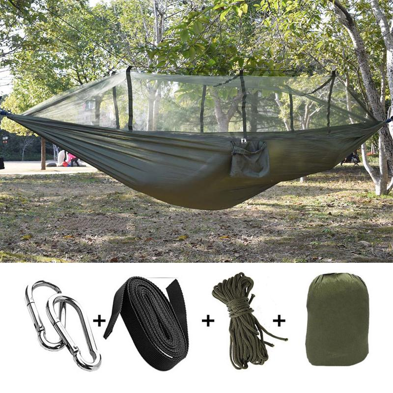 2019 Portable Hammock With Mosquito Net High Strength Parachute