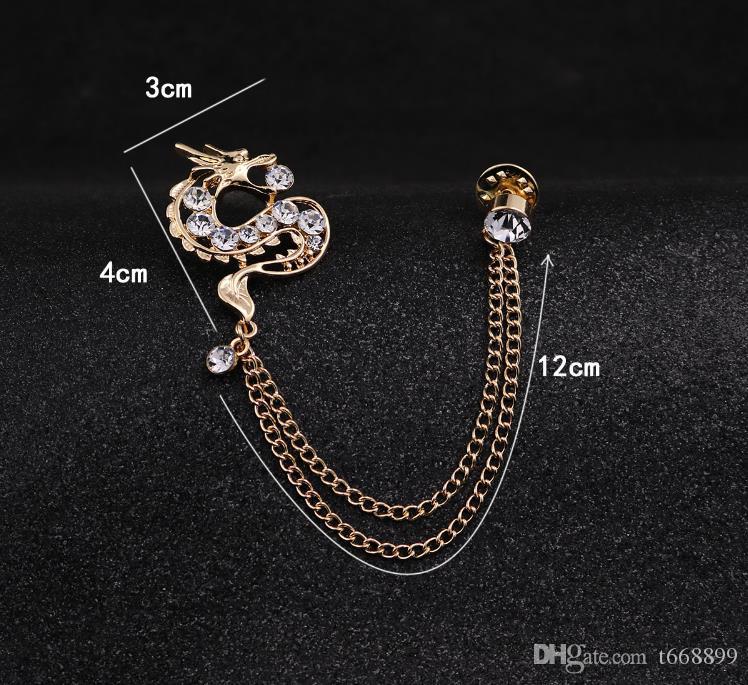 Homme de la Corée du Sud broches broches accessoires dragon zodiac reconstituant des manières antiques épingles badge robe collier médaille de costumes
