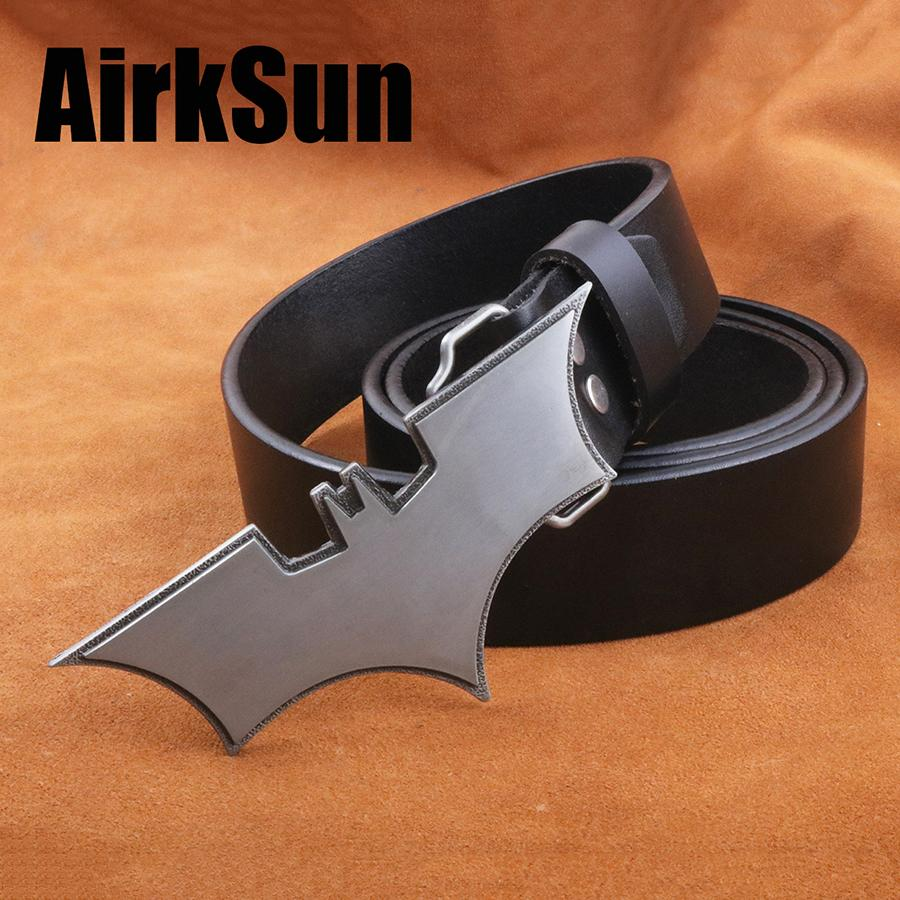 AirkSun2017 Punk Cartoon Buckle for men Cowskin Fashion Mens belts luxury Genuine leather wide Big Size Belt Men Cinto