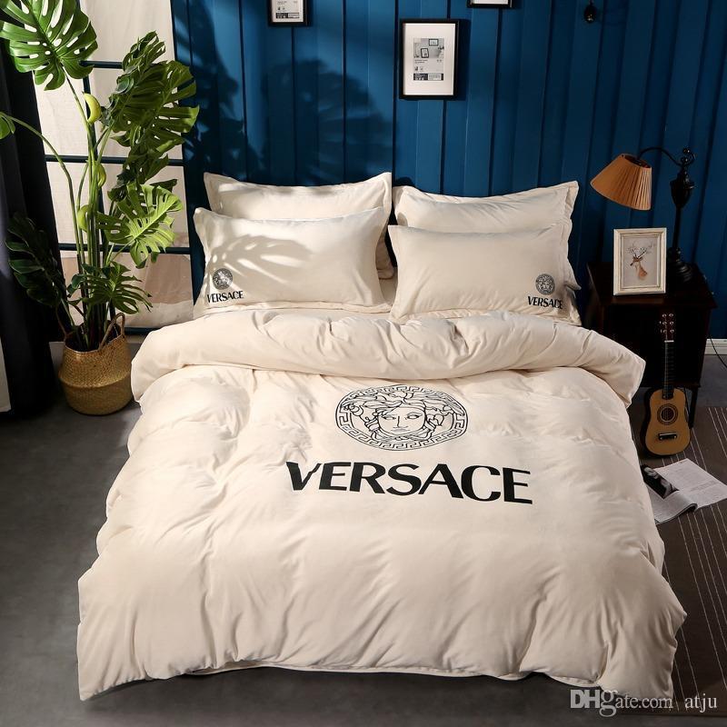 Großhandel Nordic Weiß Göttin Design Bettwäsche Luxus Marke Herbst