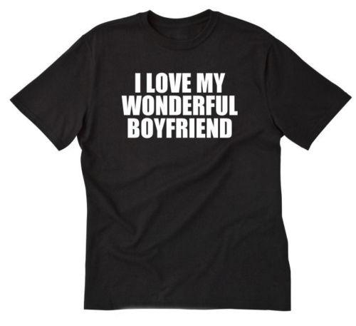c2204bd9a Details Zu I Love My Wonderful Boyfriend T Shirt Funny Valentine'S Day Gift Tee  Shirt Funny Unisex Casual Graphic T Shirts Custom Shirt From Vectorbombb,  ...