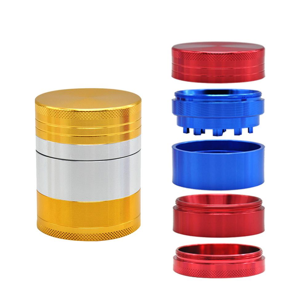 CNC Dia. 50MM 5Layers Aluminum Alloy Tobacco Crusher Herb Grinder Mills Big Volume hand miller Smoking Herb Grinder Storage Case