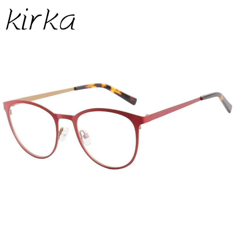 3fa2f3d3fe2 Kirka Metal Cute Young Type Women Cat Eye Eyeglasses Frames for ...