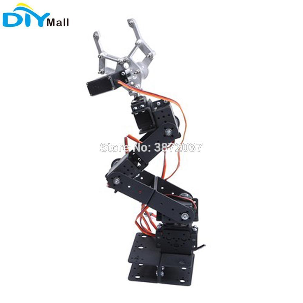 6DOF Mechanical Claw Robotic Arm Plate Clamp Bracket Mount Holder MG996R  Metal Gear Digital Servo for Arduino Smart Car