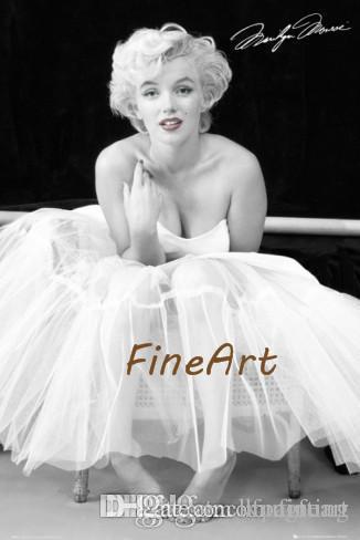 Acquista 100% Dipinto A Mano Marilyn Monroe Camvas Quadri D\'arte In ...