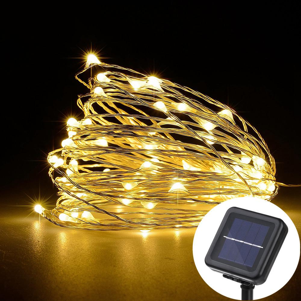 Led Solar String Lamp Fairy Light Christmas Lights 10m 100 Led 5m ...