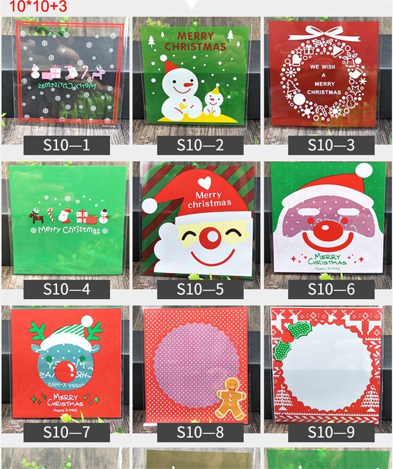 Decorazioni Natalizie 2019 Fai Da Te.2019 Natale Halloween Cookie Sacchetto Di Cibo Fai Da Te Guarnizione Autoadesiva Imballaggio Sacchetto Di Plastica Babbo Natale Pupazzo Di Neve
