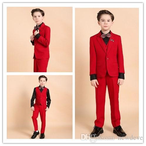 dbb004f76 2018 New Arrival Design Children Formal Wear 1 Button Boy Wedding ...