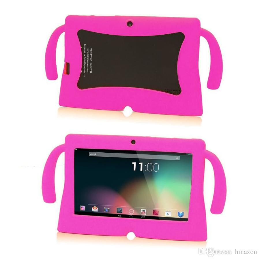 Kids Soft Silicone Rubber Gel Case Cover For 7inch Q88 A13 A23 A33 Q8 Android Tablet PC kids Christmas gift