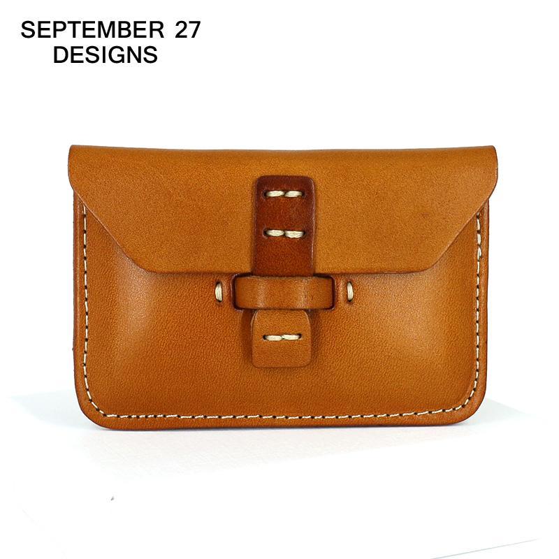 Business Card Holders Brand Designer Genuine Leather Vintage Id