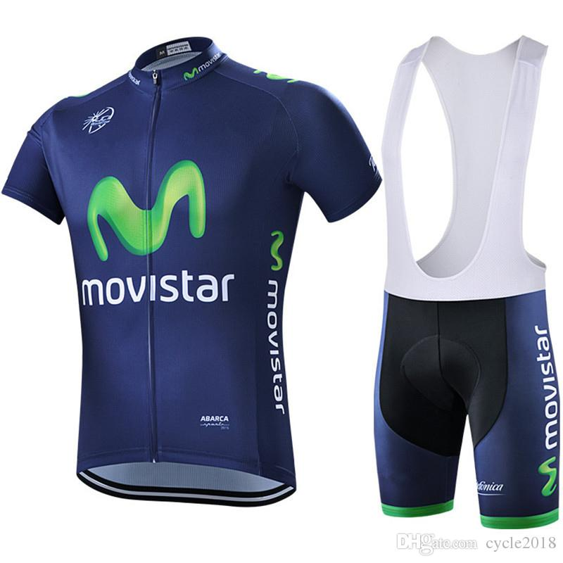 2018 Hot Sale Movistar Team Men Cycling Jersey Summer Bicycle Clothing  Outdoor Sport MTB Bike Bib Shorts Set Maillot Ciclismo Hombre Cycling  Outfit Baggy ... 03227c702