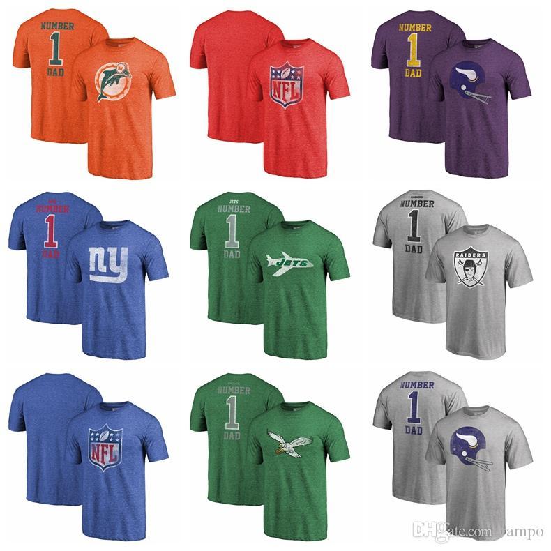 4c923192a Mens Brand T Shirt Miami Dolphins Minnesota Vikings Giants New York ...