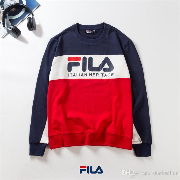 3014f82f879d3 2019 New Men Women Brand Sweatshirt FILA Hoodie Designer Fashion Pullover  Sweatshirts Mens O Neck Sportswear Coat 007 From Sharkseller, $34.53 |  DHgate.Com