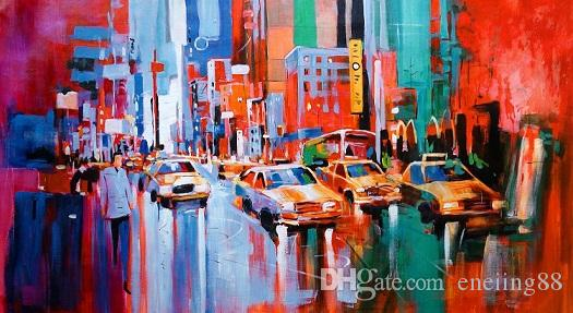 New York,Voka Style Replica,HandPainted /HD Print CITY VIEWS Art Oil Painting On Canvas.Multi sizes /frame Options Ab271