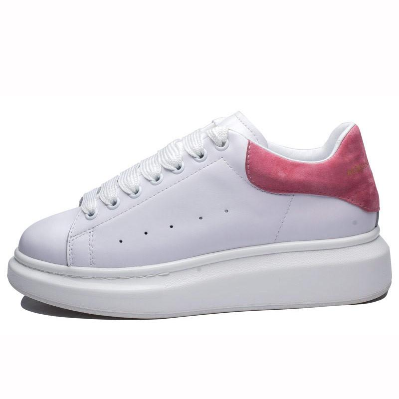 High Quality Women Men Fashion Spring Shoes Lady Casual Comfortable Walking Sneakers Leather Breathable Lace Up Platform Shoes