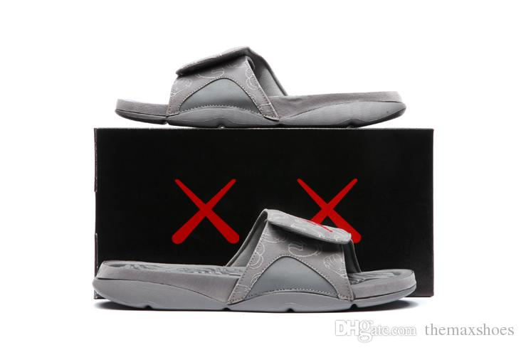 c9b63e602e132 2018 Hot New KAWS 4s X Hydro Retroes 4 Cool Grey Slippers IV Sandals Slides  Basketball Shoes Sneakers Glow In Dark Size 7 12v 930155 003 Fashion Shoes  Happy ...