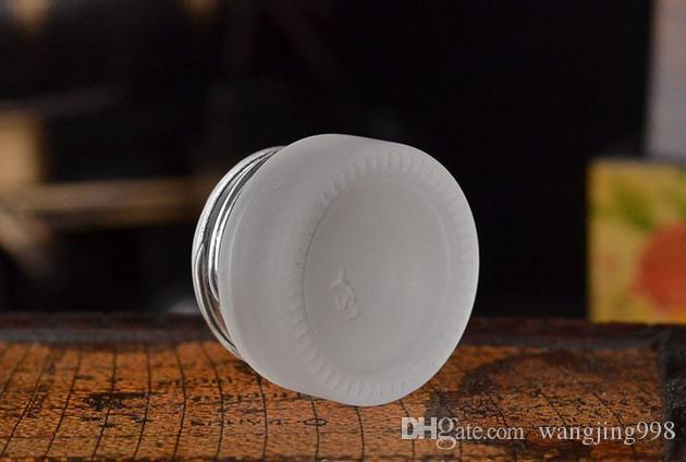 5g Mattglas-Topf-Glas für Creme, Wachs, ätherisches Öl, Kosmetik - leerer Behälter der Proben-5ml - Spielraum-nachfüllbare Verpackungs-Flasche
