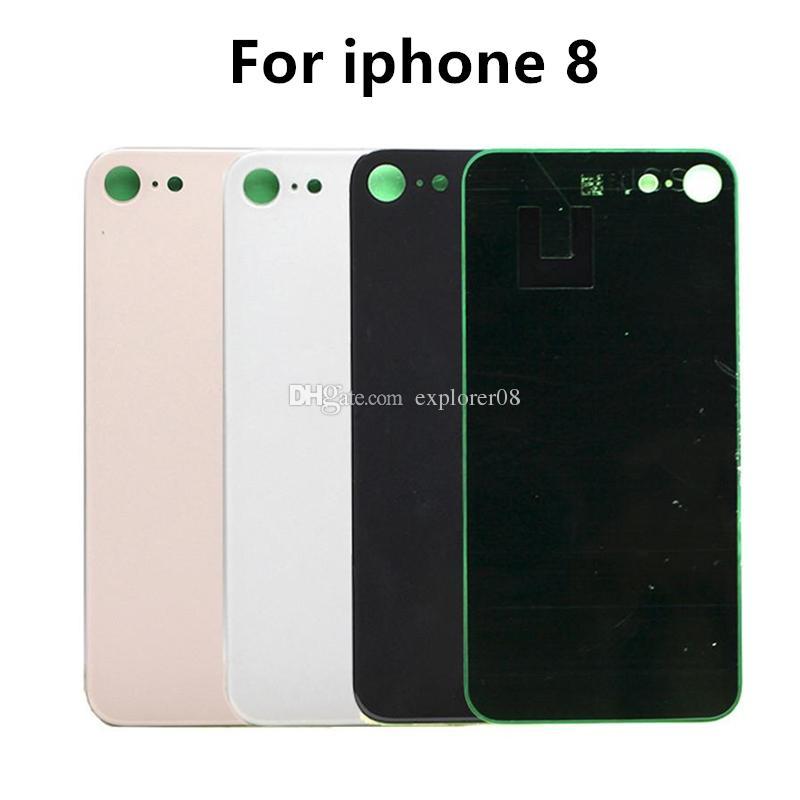 OEM für iPhone 8G 8 Plus X Rückseiten-Batterie-Glasdeckel Tür Rückseite Gehäuse mit anhaftenden Aufklebern Ersatzteile DHL