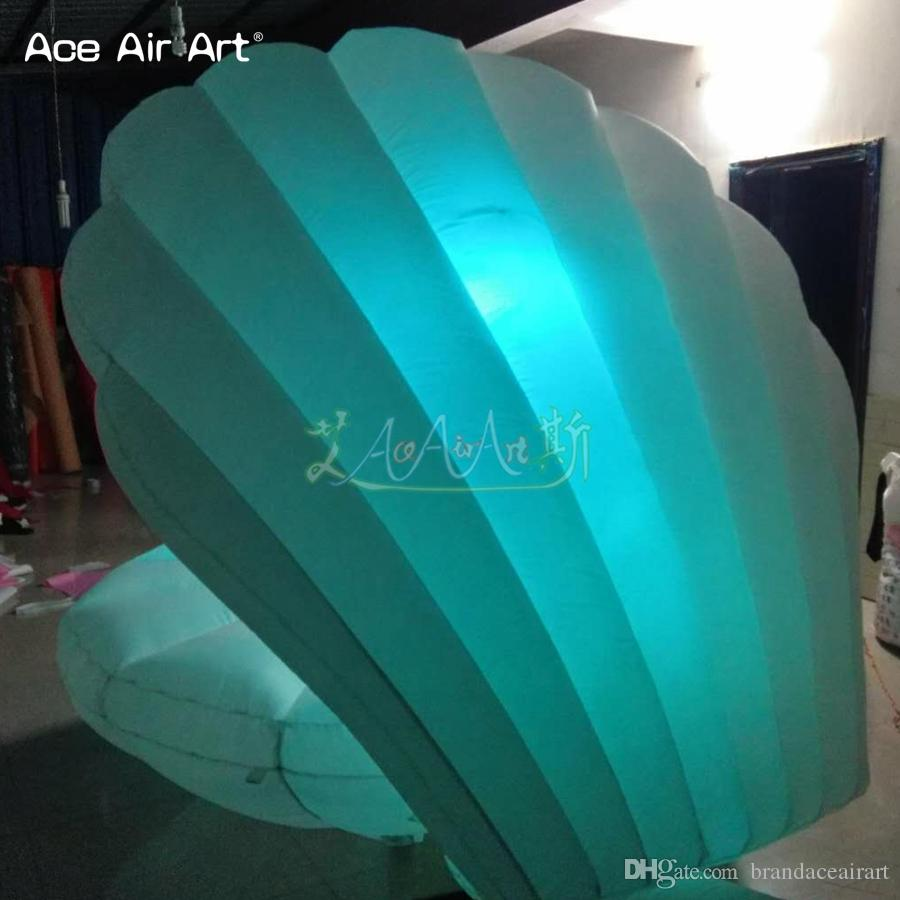 2018 New arrived led inflatable seashell,giant inflatable crabshell,clamshell for wedding decoration