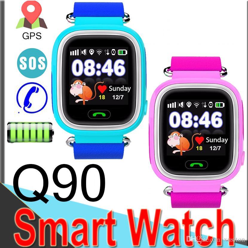 R11 Para Pantalla Reloj Dhl De Q90 Niños Gps Inteligente Táctil Teléfono Seguimiento Sos Color En Llamada vyIf7Yb6g
