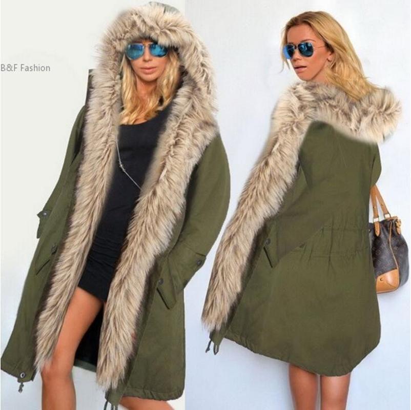 27129c9b46cc7e Acheter 2019 NOUVEAU Plus La Taille S 5XL Manteau De Veste D hiver Manteau  2018 Nouveau Mode Femmes Manteau À Capuche Fausse Fourrure Coton Polaire  Femme ...