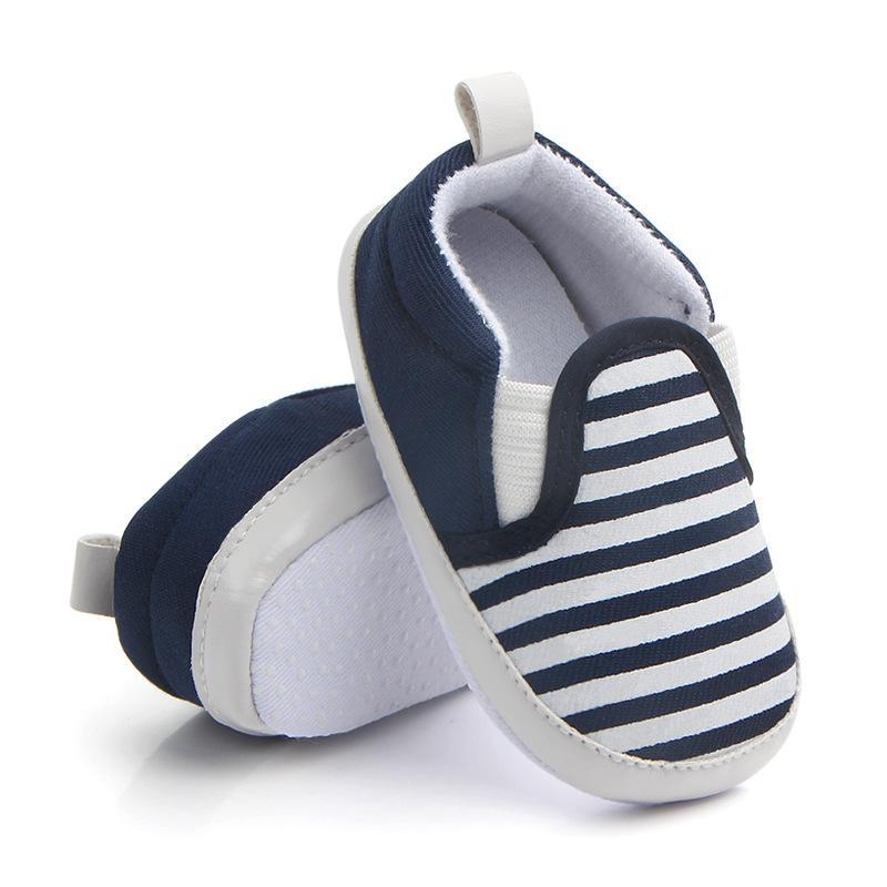 new products c11f7 2d1aa Babyschuhe Fashion SpringAutumn Coole Streifen Rutschfeste Weiche Boom  Kleinkinder Schuhe Baby Erste Wanderer 0-12 Mt.