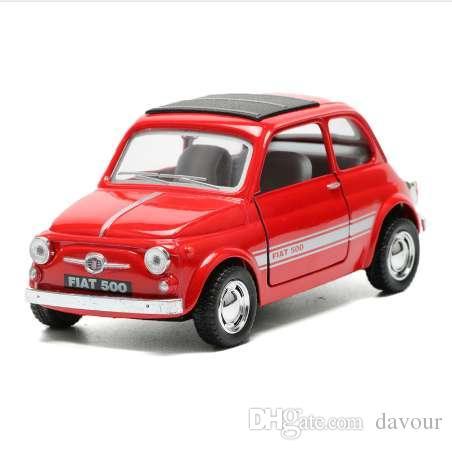 1 24 2018 Alloy Diecast Car Toy High Simulation Fiat 500 Toy Car