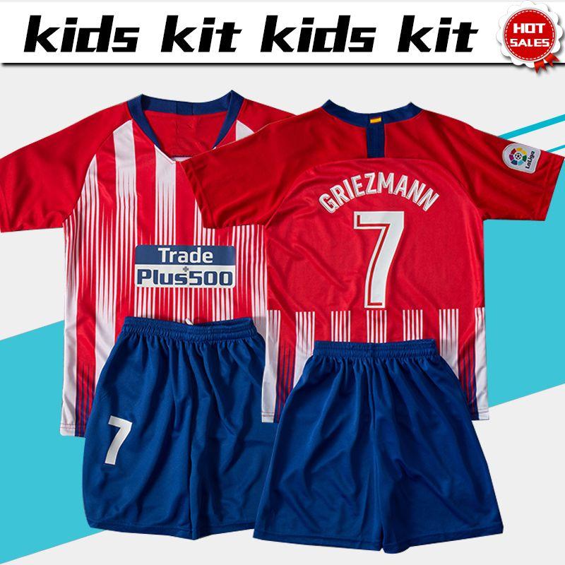 Compre   7 GRIEZMANN Kits Para Crianças Madri Camisa De Futebol 2018 19  Casa Camisas De Futebol Da Criança Camisas De Futebol Da Criança Uniforme  2018 19 ... 6b0e5cbd80333
