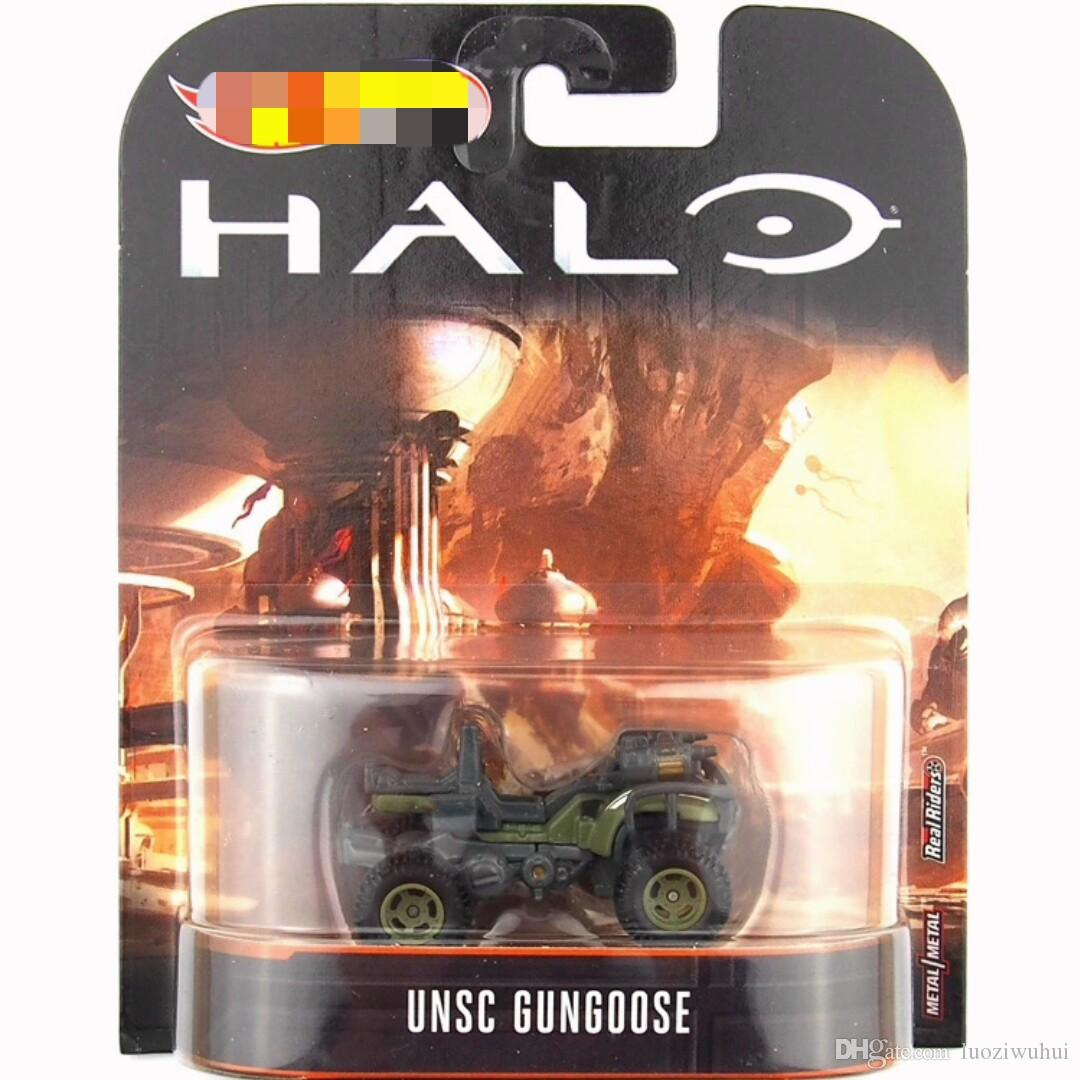 2018 latest batch of small sports car toys, movie hot sale series, alloy  vehicle model, Halo War DMC55, 5 models mixed wholesale!0110