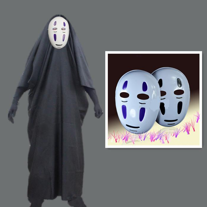No Face Man Spiritué À Loin Cosplay Costume avec des gants de Masque pour Halloween Costume Anime Miyazaki Hayao Cape Sans Visage