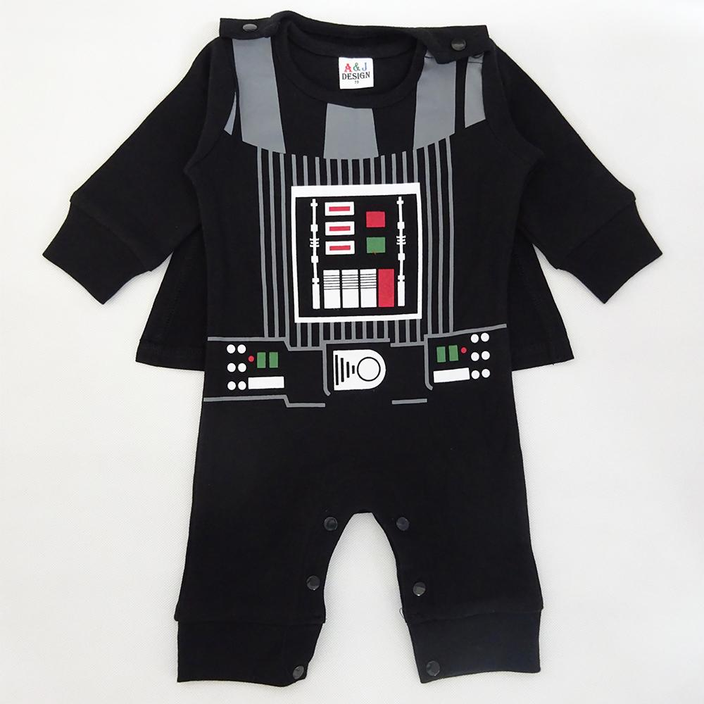 a57cdfc7c2a1 2019 Baby Boy Darth Vader Costume Romper Infant Jumpsuit Toddler ...