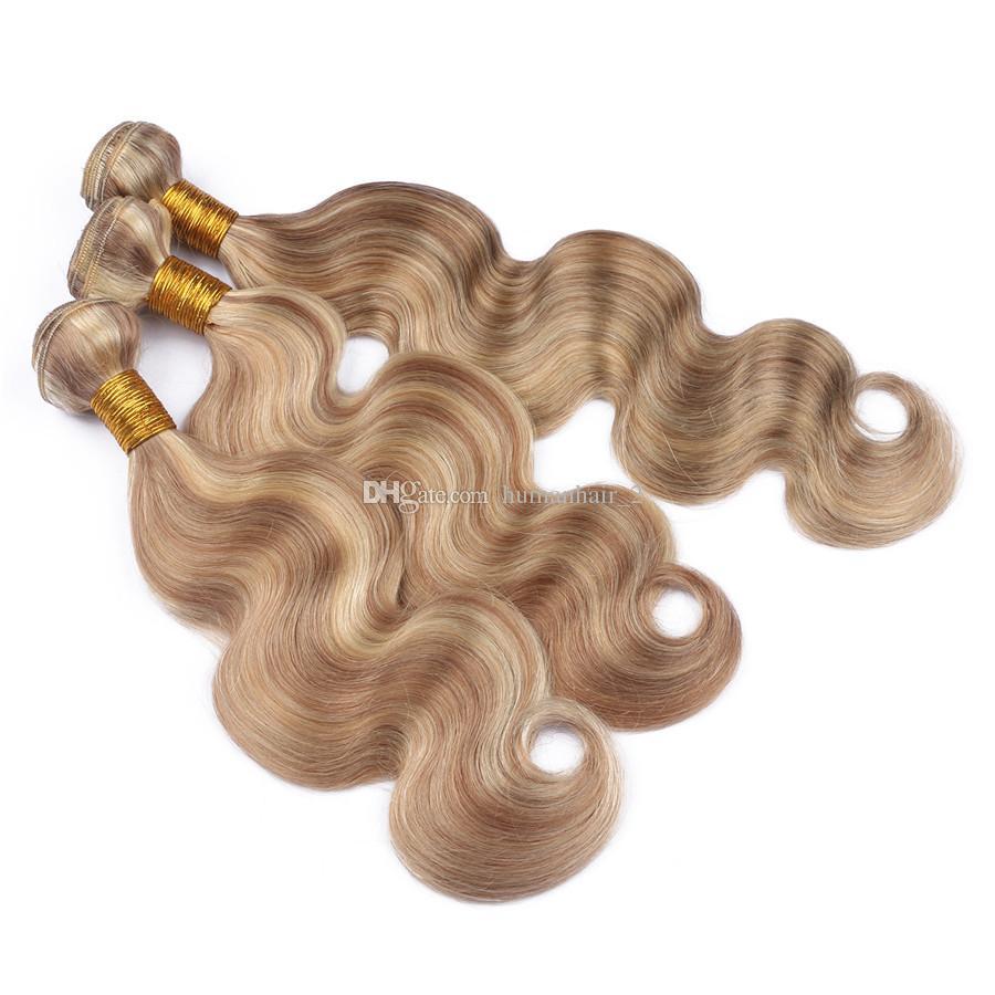 2018 Highlight Human Hair Weaves 3 Bundle Deals Body Wave Brazilian