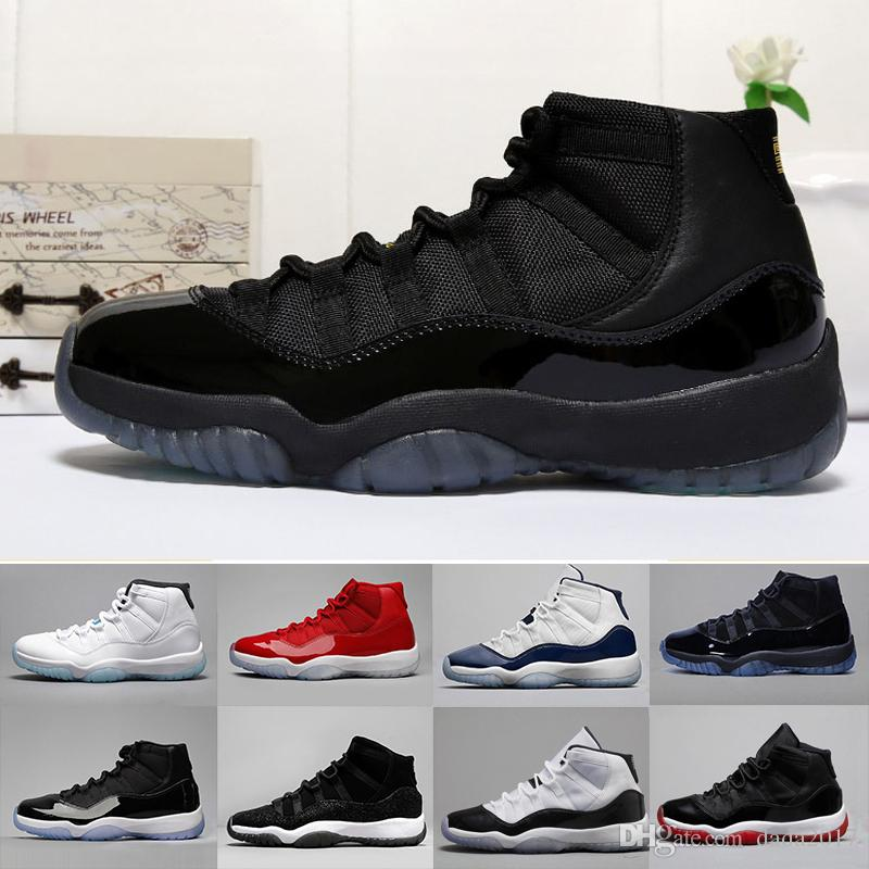 250787f20f2 2018 11s Men Basketball Shoes Sneakers Prom Night COOL BLACK High Tops  Women 11 Gamma Blue Mens Trainers Patent Leather Nylon Shoes Sneakers Jordans  Shoes ...