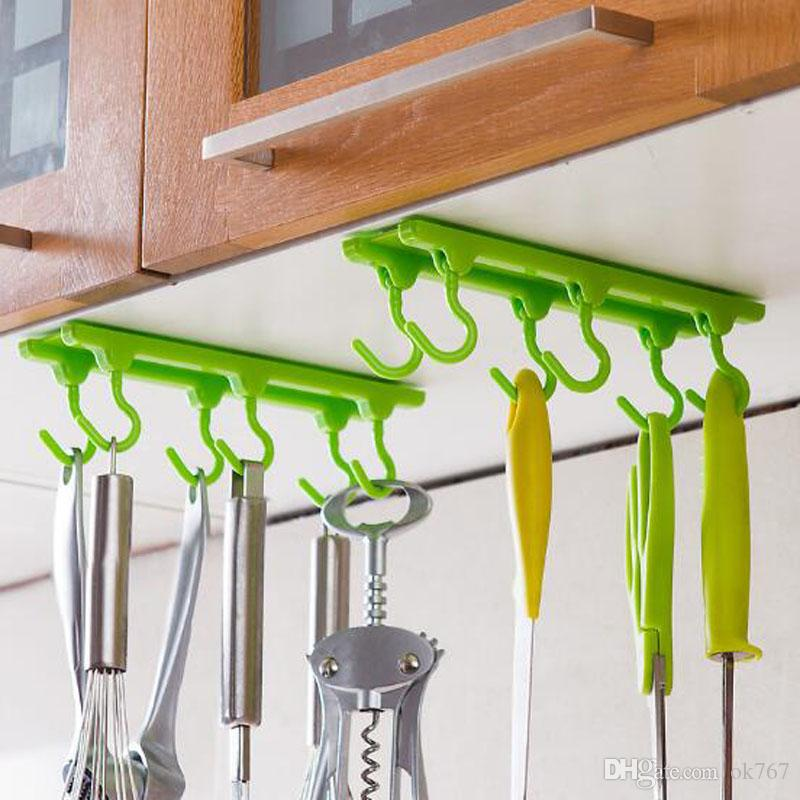 4 Color Kitchen Cabinet Wall Cabinet Hook Kitchen Storage Strong Sticky Hooks Up Wall Rails Free Shipping