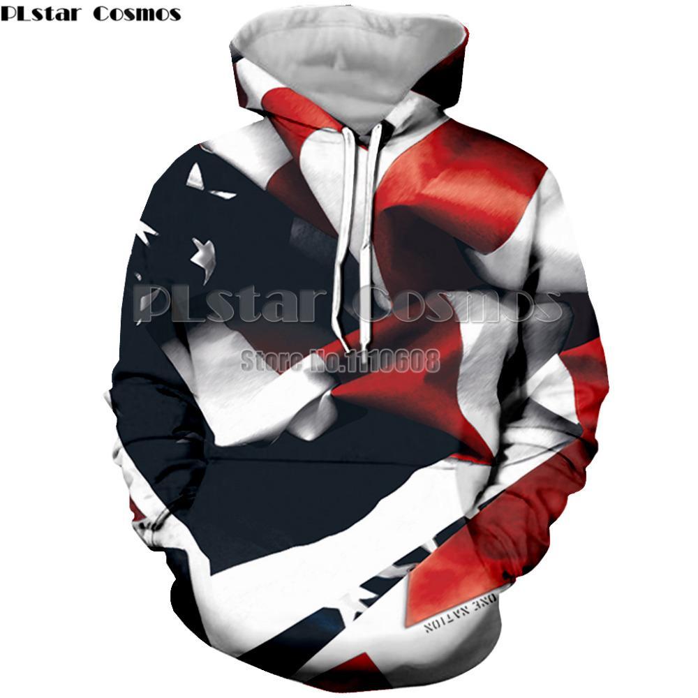 Compre PLstar Cosmos Marca Rayas Bandera Americana 3D Sudaderas Con Capucha  Con Capucha Hombres Mujeres Sudaderas Con Capucha Suéter Unisex Sudadera A  ... 87903af3247
