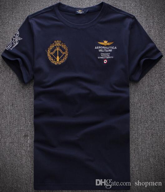 High-End Summer Autumn AERONAUTICA MILITARE Short Sleeved Polo Shirts Lapel  High Grade Cotton Air Force One Polos Polo Shirt Online with  24.09 Piece  on ... 4ea3eb357