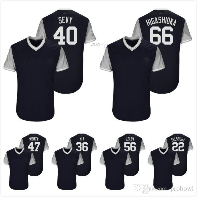 2427f344a67 2018 Players Weekend 40 Luis Severino Sevy Jacoby Ellsbury Jonathan ...