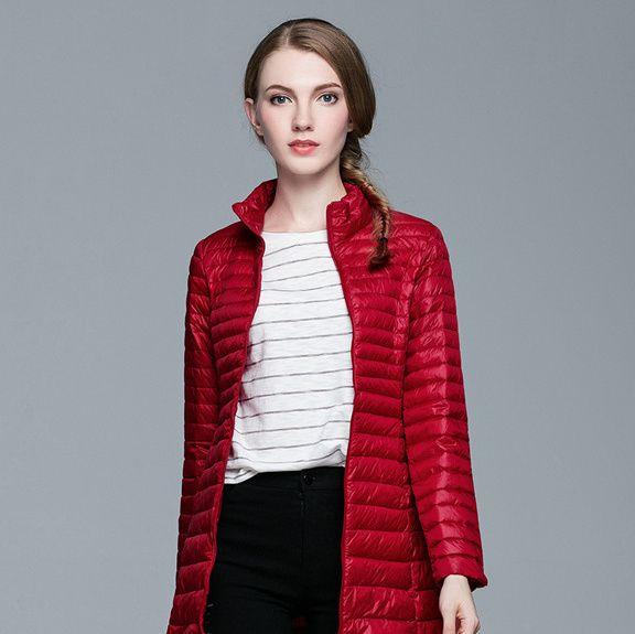 beb5206c4 Plus size Winter Spring Women 90% White Duck Dow Down Jacket Woman Ultra  Light Down Jackets Warm Outdoor Hooded Portable Coat Parkas Outwear