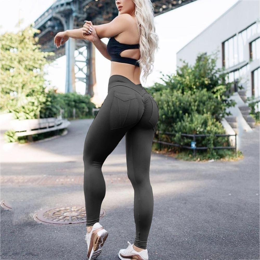 0031104aef3833 2019 Sexy Hip Leggings High Waist Push Up Elastic Casual Leggings ...